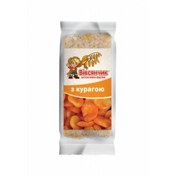 Сушеные продукты Харчі Батончик овсяный с курагой