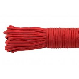 Паракордовий шнур Highlander Type III 550 Red 4 мм красный