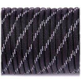 Паракордовий шнур Highlander Paracord reflective 4 мм black черный
