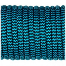 Паракордовий шнур Highlander Type III 550 Ice mint back wave 4 мм синий