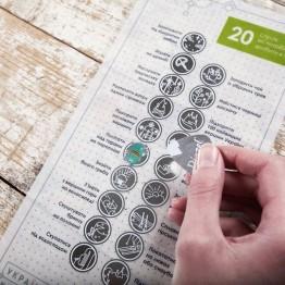 Скретч-листівка Pinzel 20 Справ як протрібно зробити в горах  біла