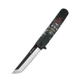 Ніж складний Ganzo G626-BS чорний самурай