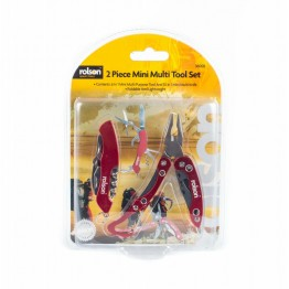 Мультитул Rolson 2 Piece Mini Multi Tool Set червоний