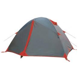 Палатка Tramp Peak 3 черный / красный