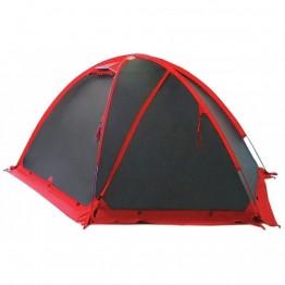 Палатка Tramp Rock 4 черный / красный