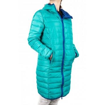 Куртка пуховая VsimGir DJ02 женская бирюзовая