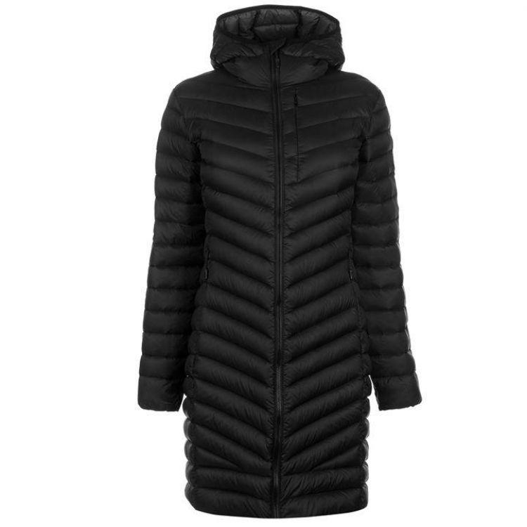 Куртка пухова Karrimor Long Alpine жіноча чорна - купити 0c837eb6e5422