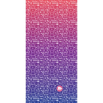Багатофункціональний головний убір Fram Backpack фіолетовий
