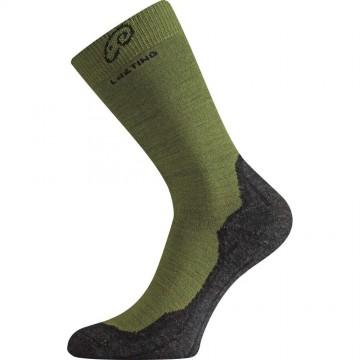 Носки Lasting WHI зеленые/серые