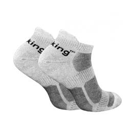 Носки трекинговые Trekking LowLight унисекс серо-черные