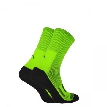 Шкарпетки Trekking MidDry+ унісекс чорно-салатові