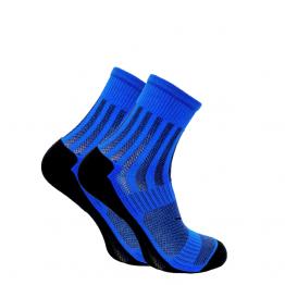 Шкарпетки Trekking ShortDry унісекс чорно-сині