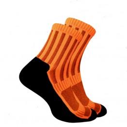 Носки Trekking ShortDry унисекс черно-оранжевые