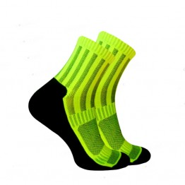 Носки Trekking ShortDry унисекс черно-салатовые