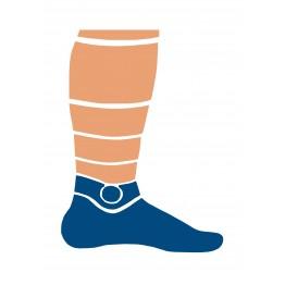 Шкарпетки трекінгові літні Trekking LowLight унісекс помаранчево-чорні
