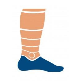 Носки Trekking LowDry унисекс черно-оранжевые