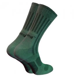 Шкарпетки трекінгові літні Trekking MidLight унісекс темно-зелені