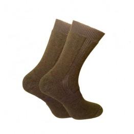 Шкарпетки трекінгові зимові Trekking ShortWinter унісекс чорно-оливкові