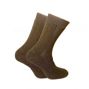 Носки Trekking ShortWinter унисекс черно-оливковые