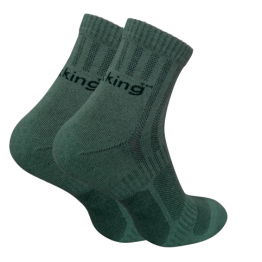 Шкарпетки трекінгові літні Trekking ShortLight унісекс темно-зелені