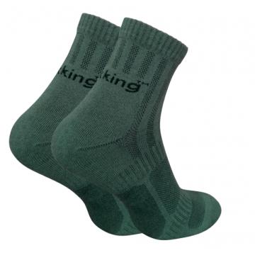 Шкарпетки трекінгові Trekking ShortLight унісекс темно-зелені