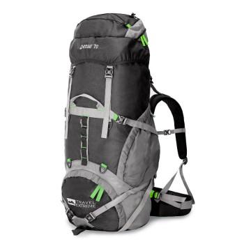 Рюкзак Travel Extreme Denali 70 чорний/зелений