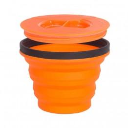 Миска складная с крышкой Sea to Summit X-Seal & Go Small оранжевая