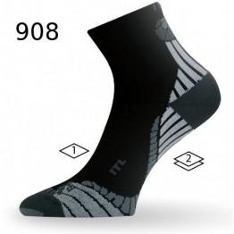 Носки Lasting ITL черные/серые