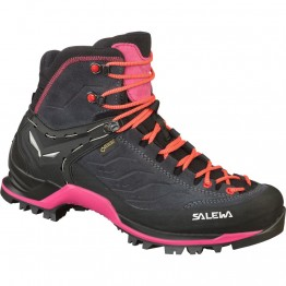 Ботинки Salewa WS MTN Trainer Mid GTX женские серые/розовые