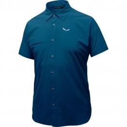 Рубашка Salewa Puez Mini Check Dry мужская синяя