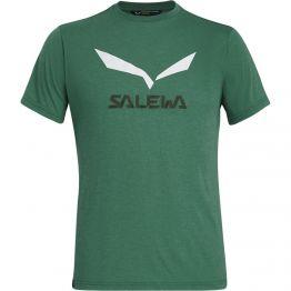 Футболка Salewa Solidlogo Dri-Release чоловіча зелена