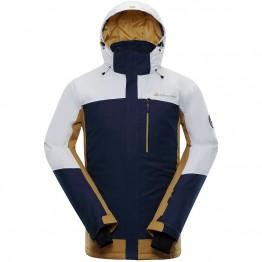 Куртка Alpine Pro Sardar 3 чоловіча біла/чорна