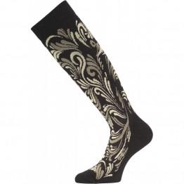 Шкарпетки Lasting SWD жіночі чорні/сірі