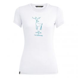 Футболка Salewa Deer Dri-Release Womens T-Shirt жіноча біла