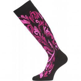 Шкарпетки Lasting SWD жіночі чорні/рожеві