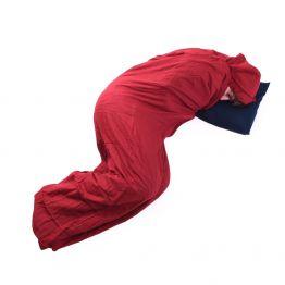Вкладиш до спальника Trekmates Cotton Liner Hotelier червоний