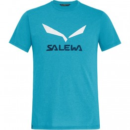 Футболка Salewa Solidlogo Dri-Release мужская синяя