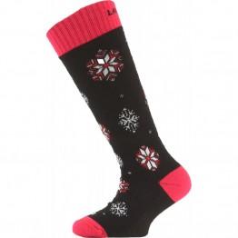 Шкарпетки Lasting SJA дитячі чорні/червоні