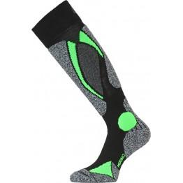 Носки Lasting SWC черные/зеленые