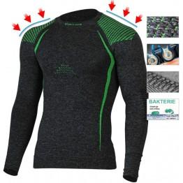Термофутболка Lasting Tolo мужская серый/зеленый