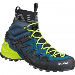 Ботинки Salewa MS Wildfire Edge Mid GTX мужские синие/зеленые