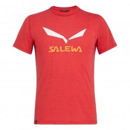 Футболка Salewa Solidlogo Dri-Release мужская красная