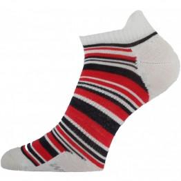 Шкарпетки Lasting WCS жіночі сірі/червоні
