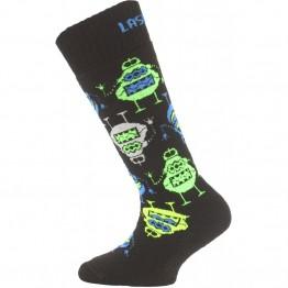 Шкарпетки Lasting SJE дитячі чорні/зелені