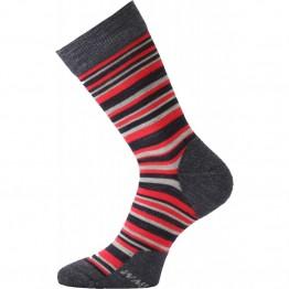 Шкарпетки Lasting WPL сірі/червоні