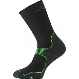 Носки Lasting WSB черные/зеленые