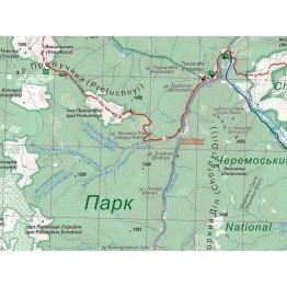 Туристична карта АССА Гринявські та Чивчинські гори