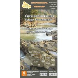 """Туристична карта Стежки та мапи """"Ґорґанське низькогір'я"""""""