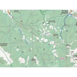 Туристична карта АССА Верховинський Вододільний Хребет. Полонина Руна