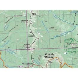 Туристична карта АССА Західні Горгани